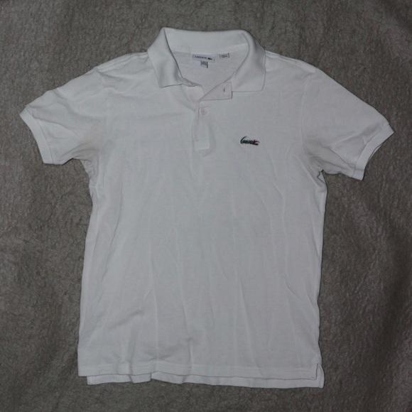 6c25e48a Lacoste Boys Short Sleeve Button Up Polo